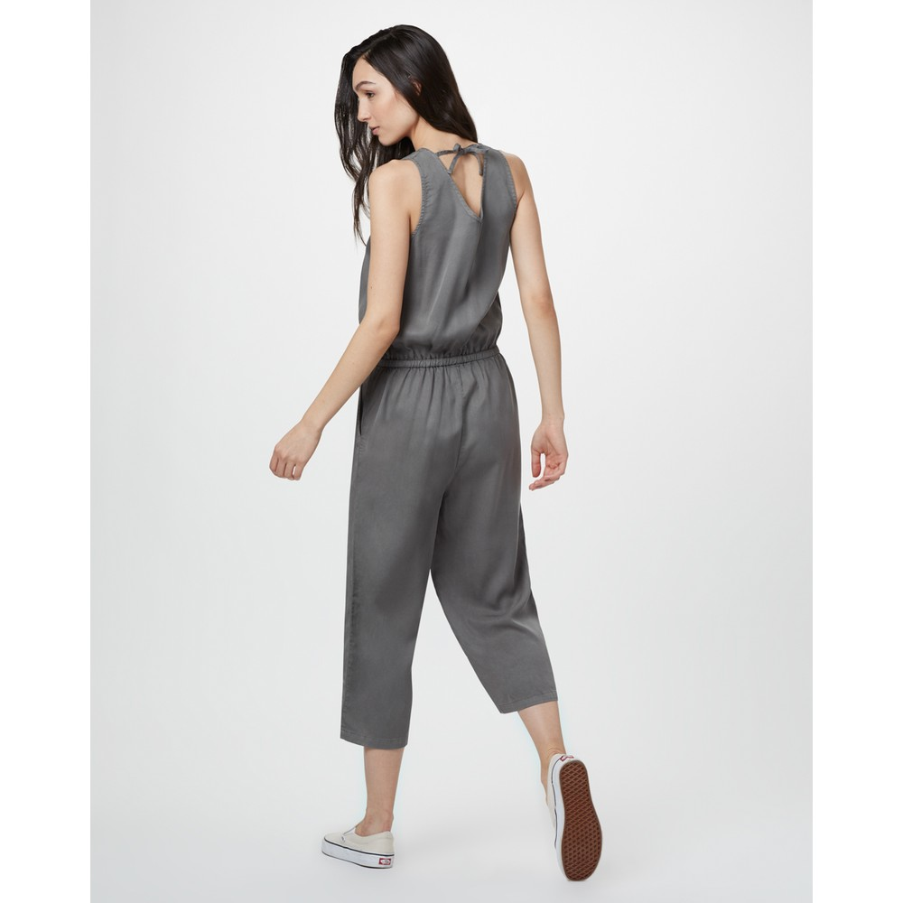 tentree Blakely Jumpsuit Womens Castor Grey