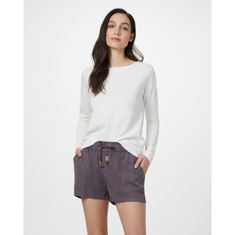 tentree Instow Short Womens Boulder Grey