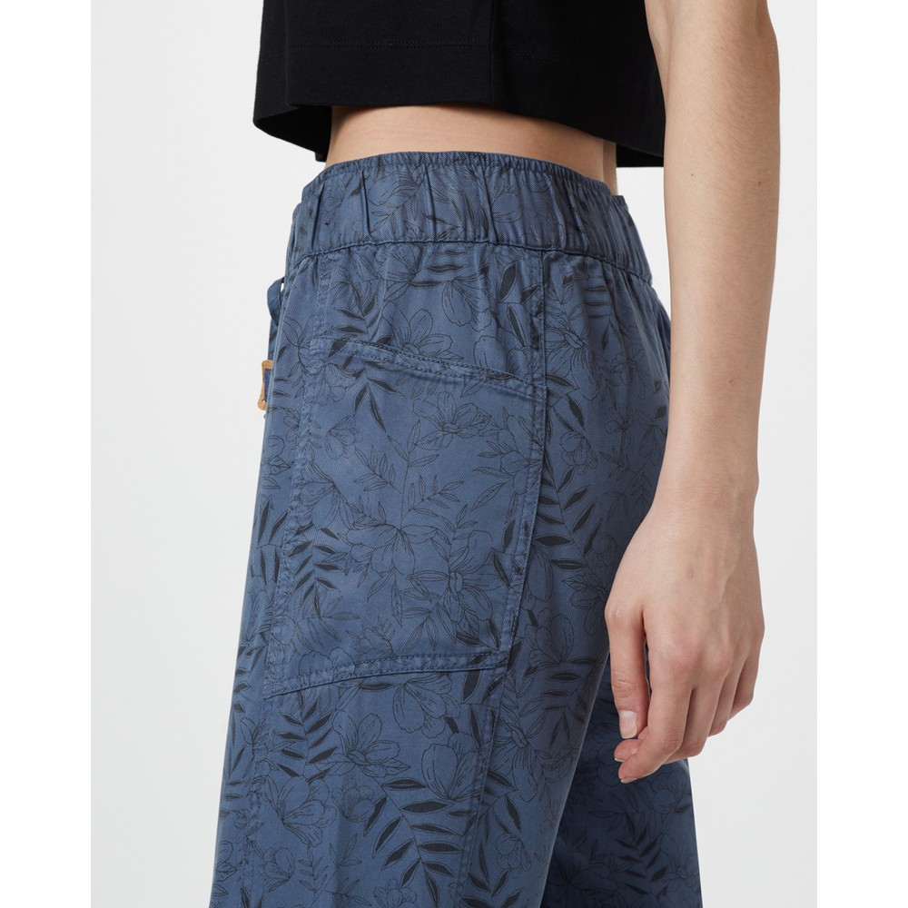 tentree Colwood Pant Womens Spruce Blue - Floral AOP
