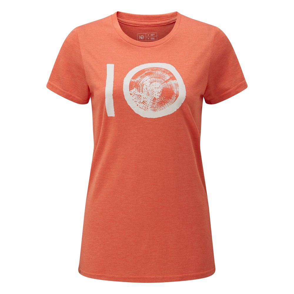tentree ten Classic T-Shirt Womens Burnt Sienna Orange Heather