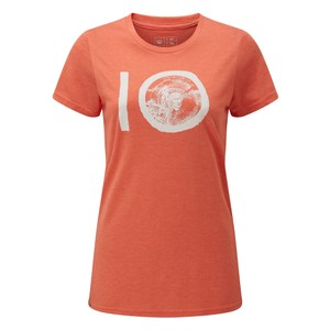 tentree ten Classic T-Shirt Womens in Burnt Sienna Orange Heather