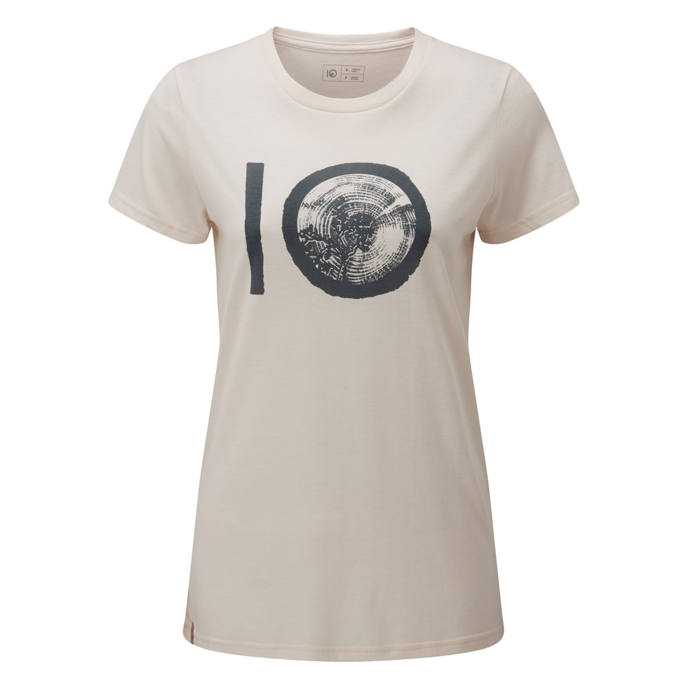 tentree ten Classic T-Shirt Womens Elm White Heather