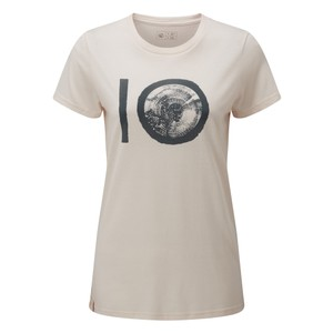 tentree ten Classic T-Shirt Womens in Elm White Heather
