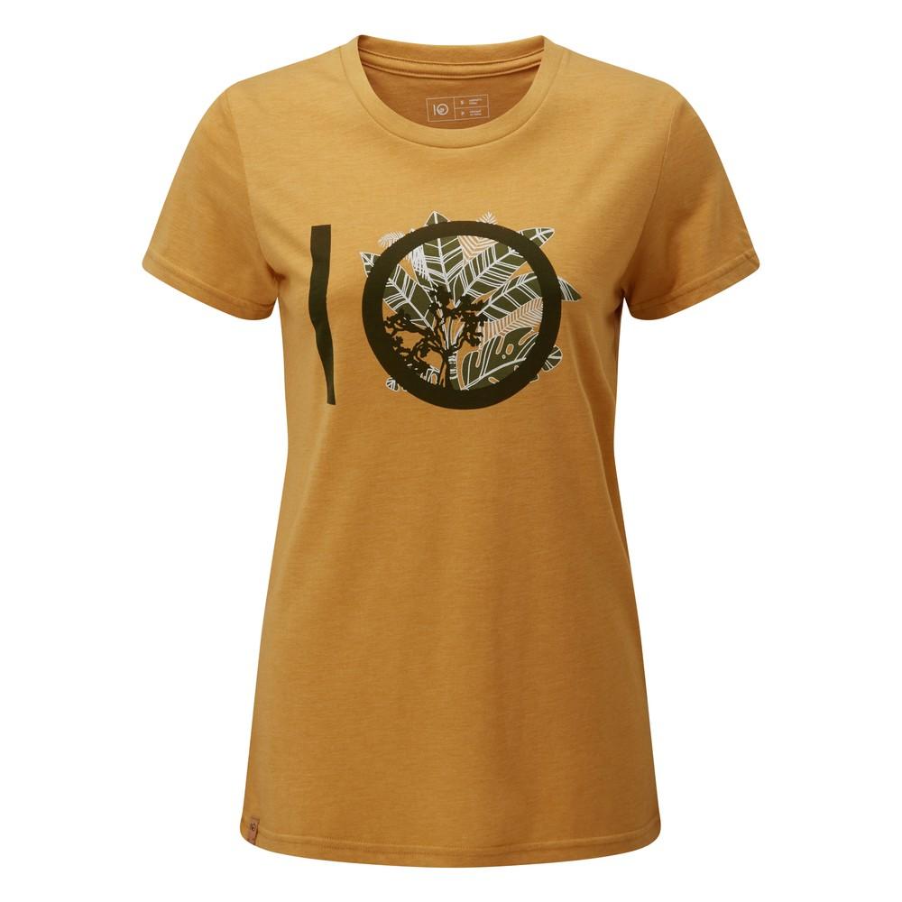 tentree ten Classic T-Shirt Womens Sweet Birch Yellow Heather