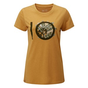 tentree ten Classic T-Shirt Womens in Sweet Birch Yellow Heather
