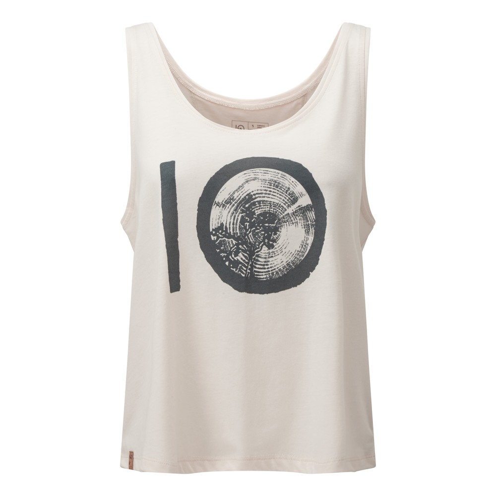 tentree ten Drape Tank Womens Elm White Heather