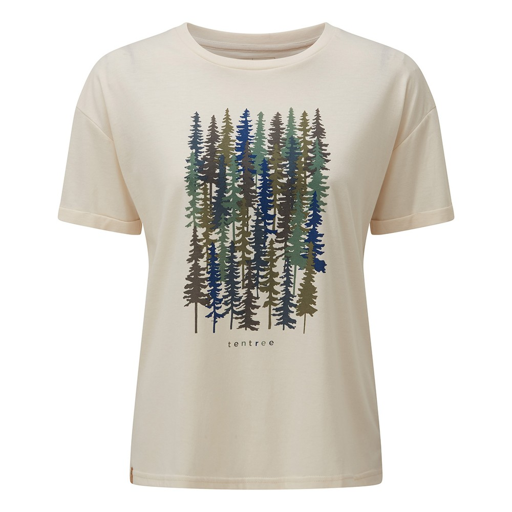 tentree Spruced Up Relaxed T-Shirt Womens Elm White Heather