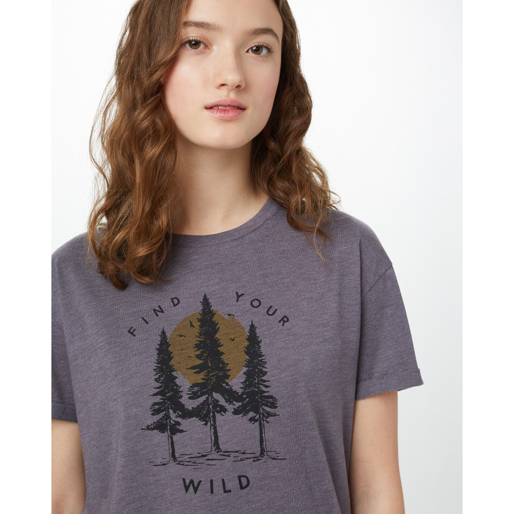 tentree Your Wild Relaxed T-Shirt Womens Boulder Grey Heather