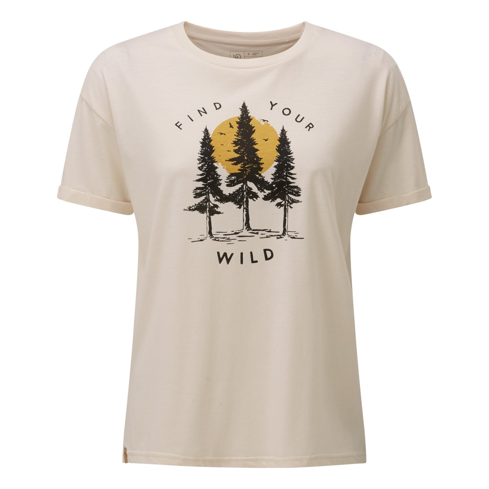tentree Your Wild Relaxed T-Shirt Womens Elm White Heather