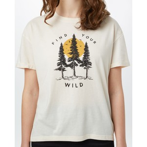 tentree Your Wild Relaxed T-Shirt Womens in Elm White Heather