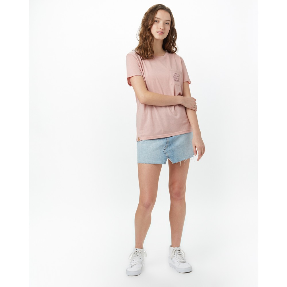 tentree Planets BF Pocket T-Shirt Quartz Pink Heather