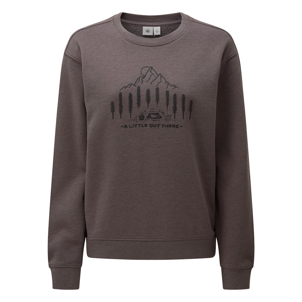 tentree Within Reach BF Crew Womens Boulder Grey Heather