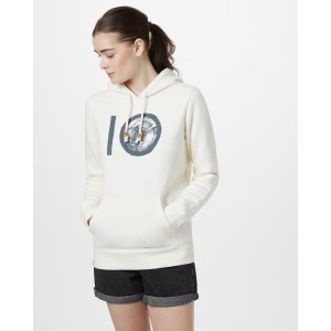 tentree ten Classic Hoodie Womens in Elm White Heather