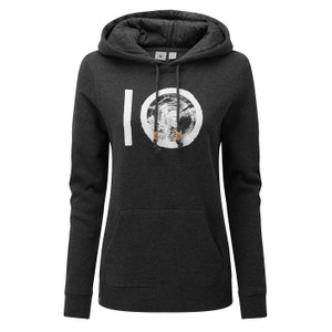 tentree ten Classic Hoodie Womens in Meteorite Black Heather