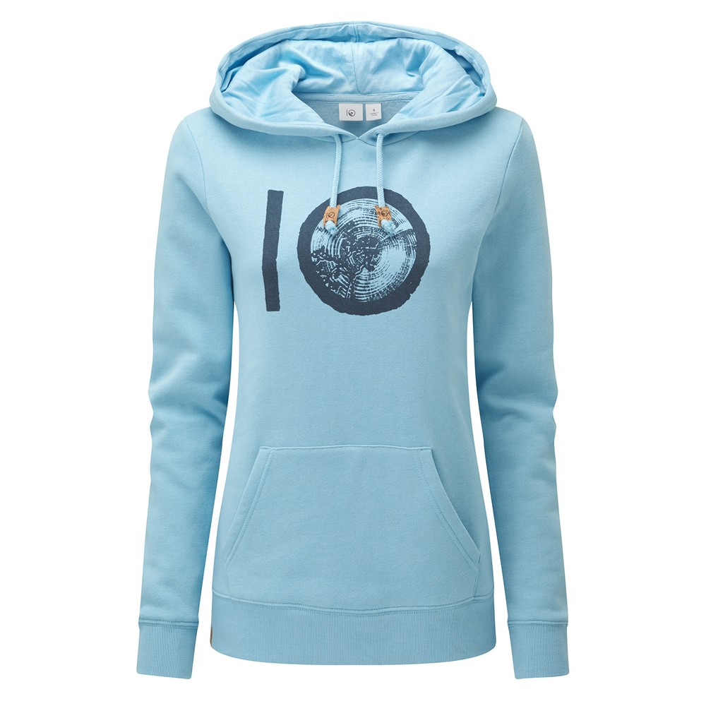 tentree ten Classic Hoodie Womens Glacier Blue Heather