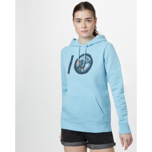 tentree ten Classic Hoodie Womens in Glacier Blue Heather