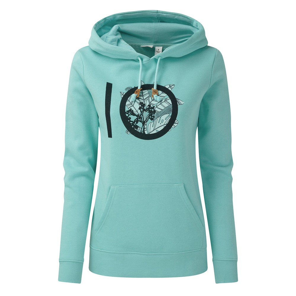 tentree ten Classic Hoodie Womens Moraine Blue Heather
