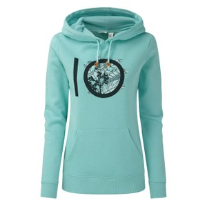 tentree ten Classic Hoodie Womens in Moraine Blue Heather