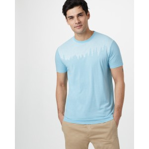tentree Juniper Classic T-Shirt Mens in Glacier Blue Heather