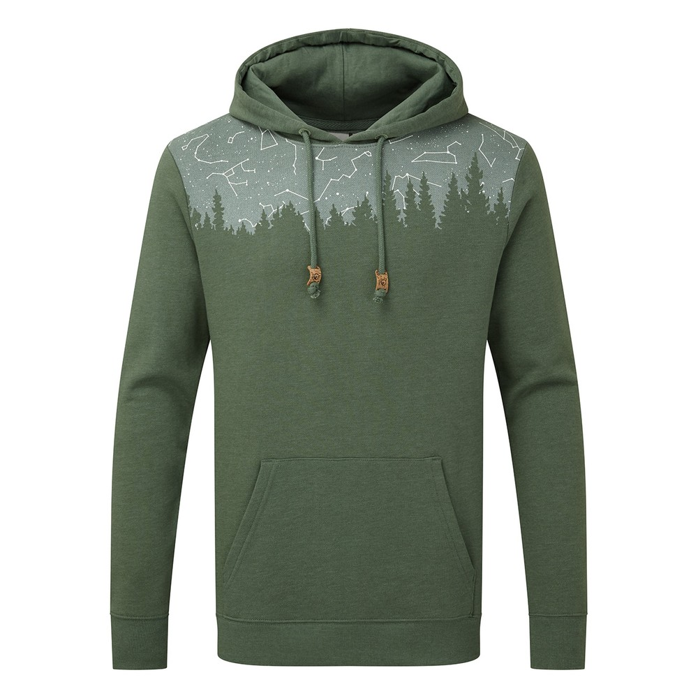tentree Constellation Juniper Hoodie Mens Forest Green Heather