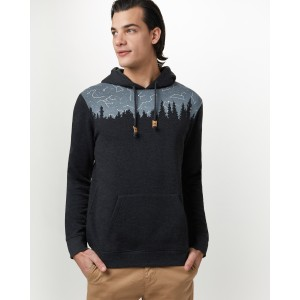 tentree Constellation Juniper Hoodie Mens in Meteorite Black Heather