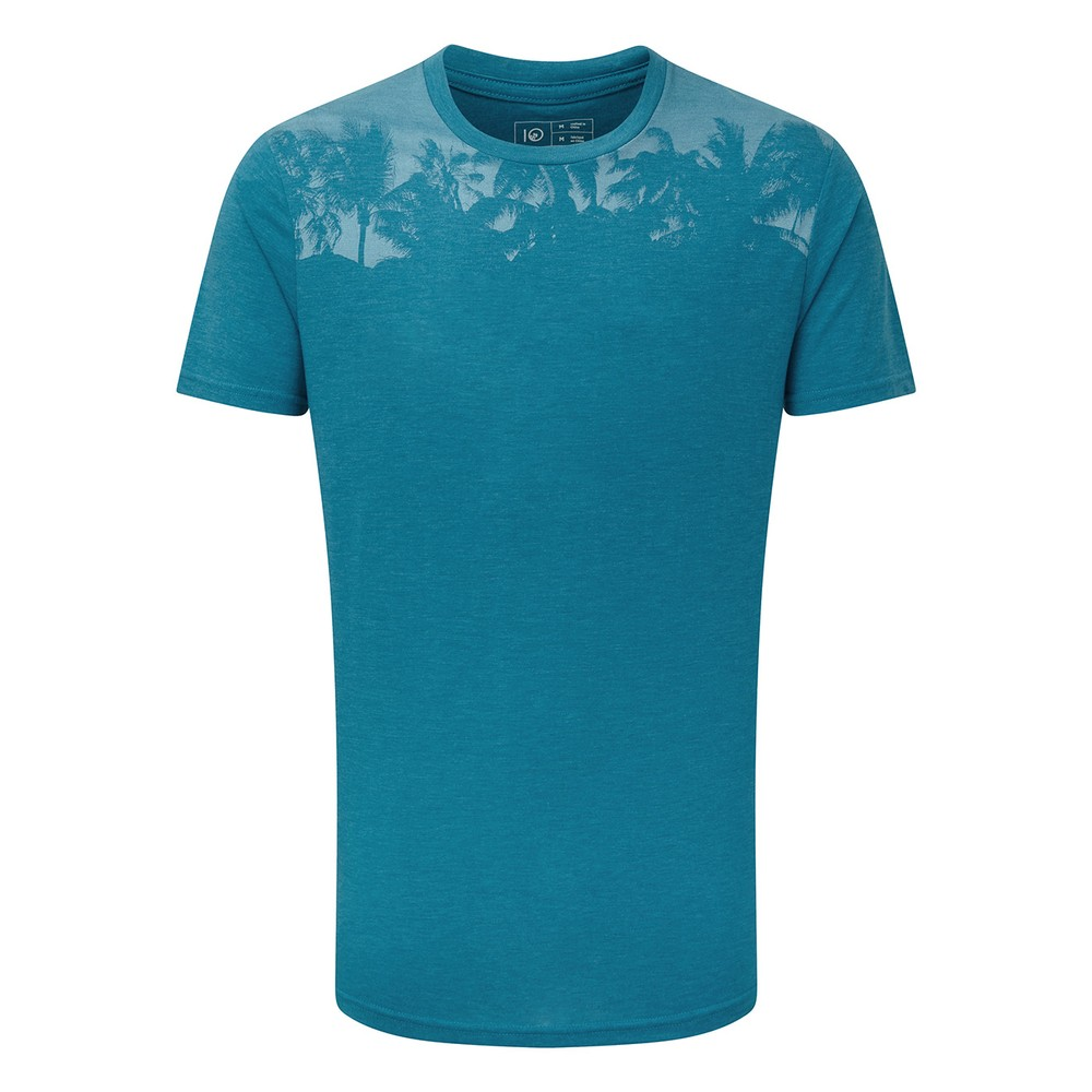 tentree Palm Classic T-Shirt Mens Blue Lake Blue Heather