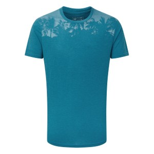 tentree Palm Classic T-Shirt Mens in Blue Lake Blue Heather