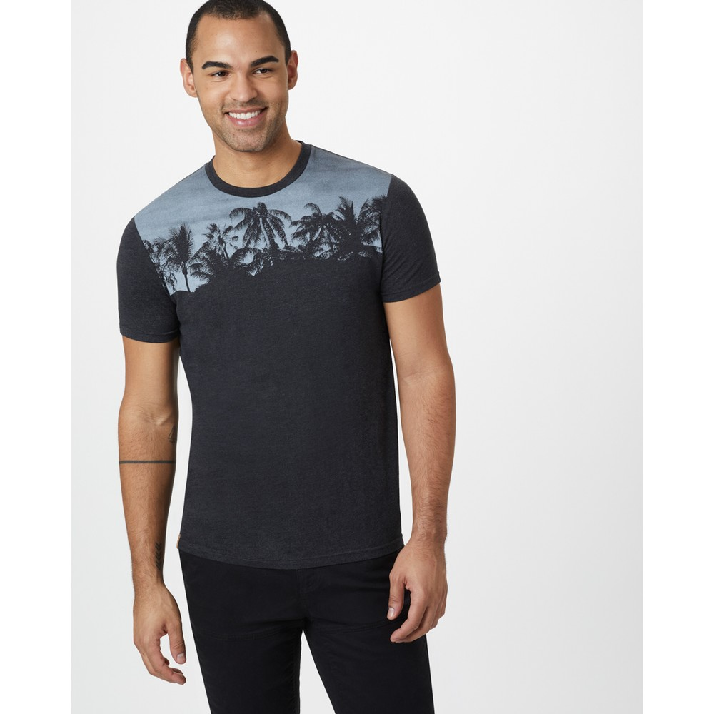 tentree Palm Classic T-Shirt Mens Meteorite Black Heather