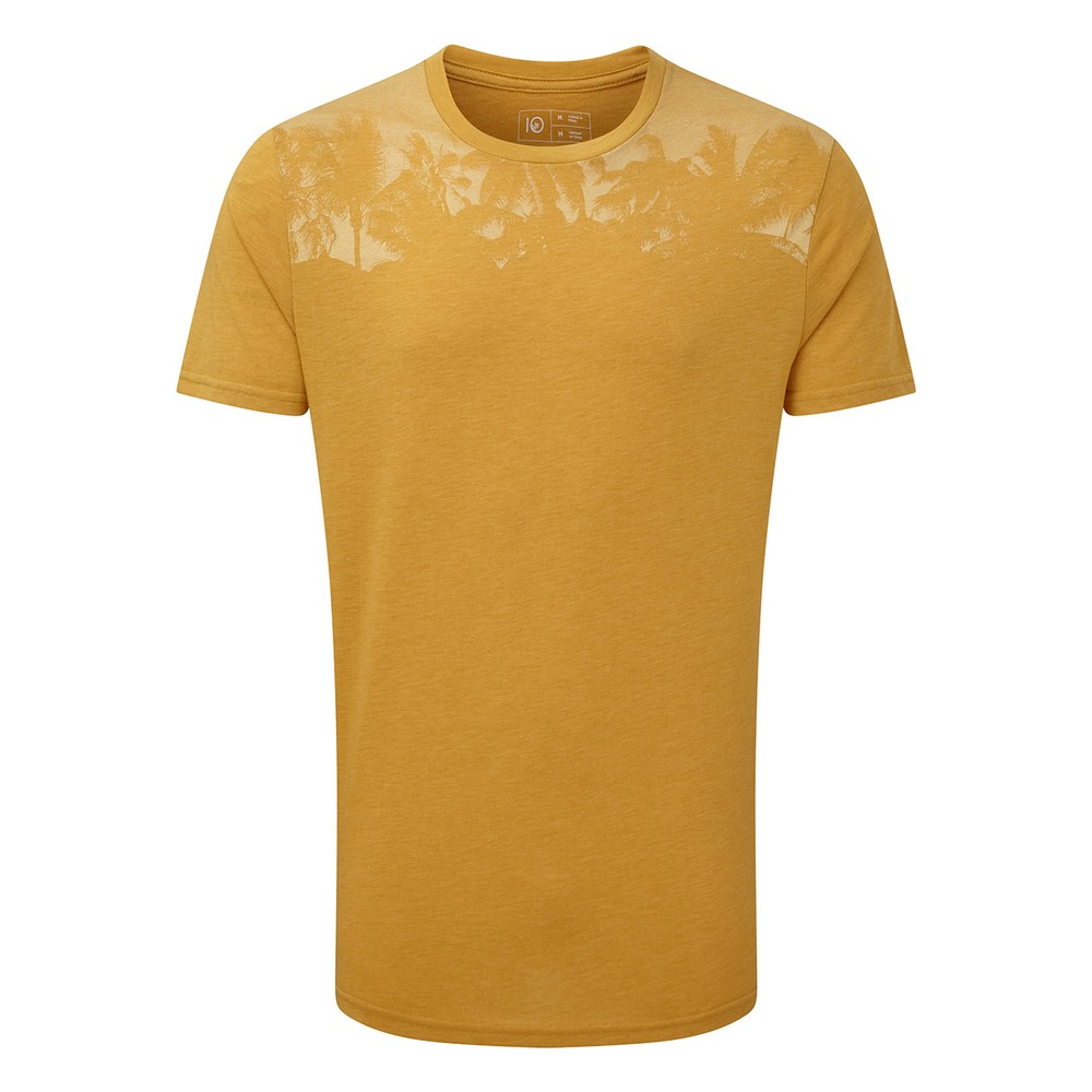 tentree Palm Classic T-Shirt Mens Sweet Birch Yellow Heather