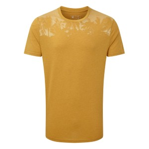 tentree Palm Classic T-Shirt Mens in Sweet Birch Yellow Heather