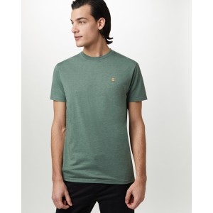 tentree Classic T-Shirt Mens in Forest Green Heather