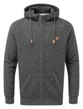 tentree Oberon Zip Hoodie Mens in Meteorite Black Marled