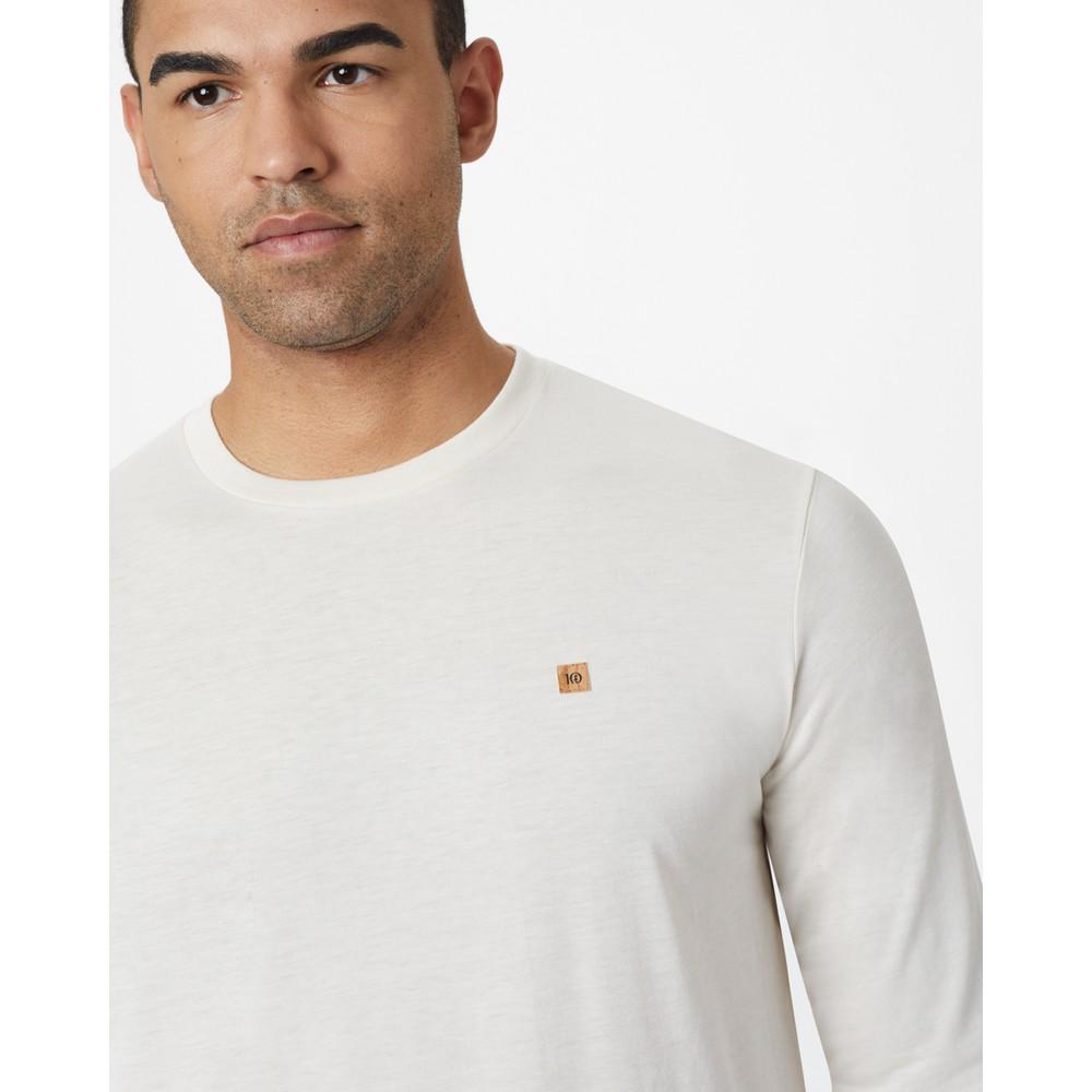 tentree TreeBlend Classic Longsleeve Shirt Mens Elm White Heather