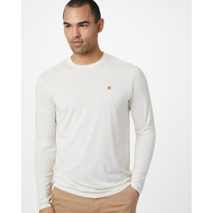 tentree Classic Longsleeve Shirt Mens in Elm White Heather