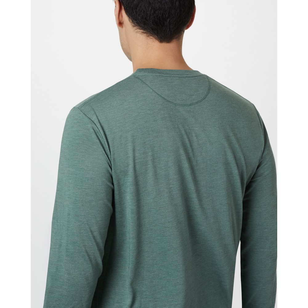 tentree Classic Longsleeve Shirt Mens Forest Green Heather