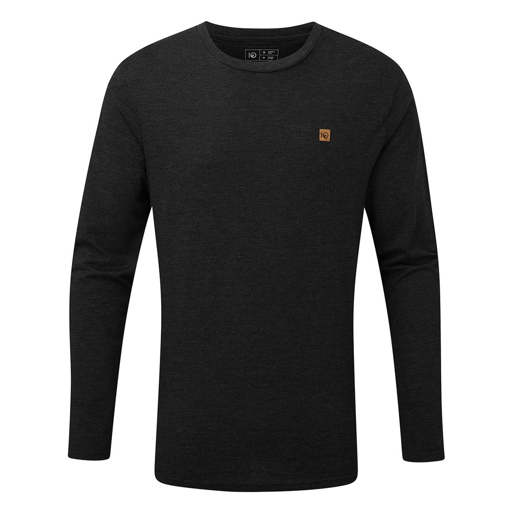 tentree TreeBlend Classic Longsleeve Shirt Mens Meteorite Black Heather