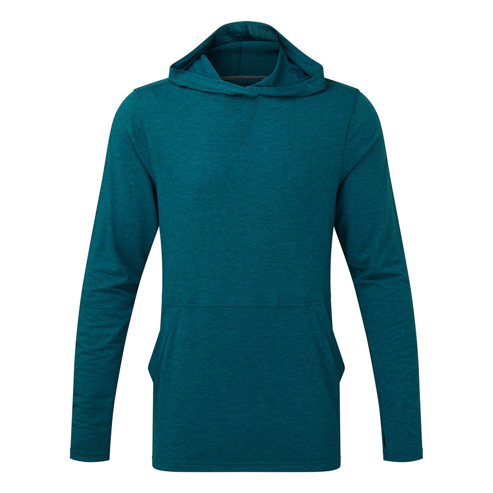 tentree Destination Hoodie Mens Blue Lake Blue Dark Heather