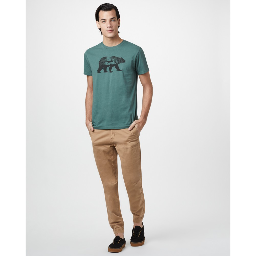 tentree Den Cotton Classic T-Shirt Mens Forest Green