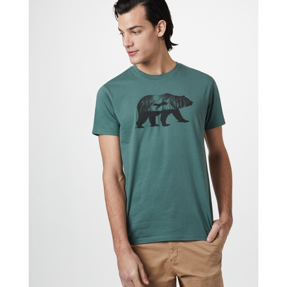 tentree Den Cotton Classic T-Shirt Mens Forest Green