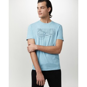 tentree Nomad Cotton Classic T-Shirt Mens in Glacier Blue