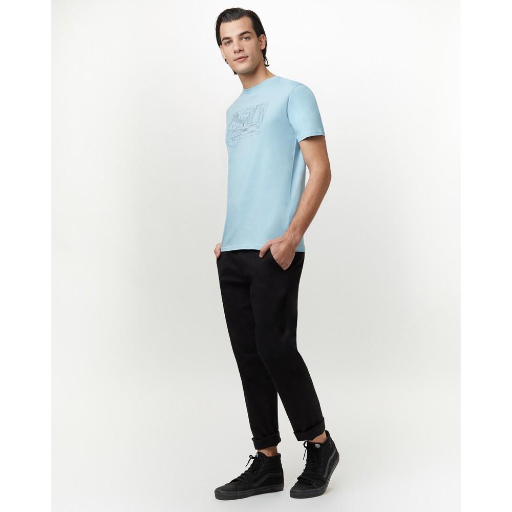 tentree Nomad Cotton Classic T-Shirt Mens Glacier Blue