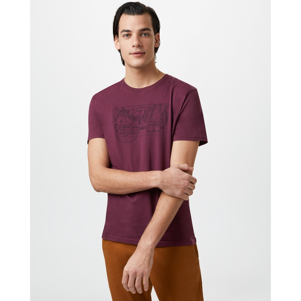 tentree Nomad Cotton Classic T-Shirt Mens Merlot Red