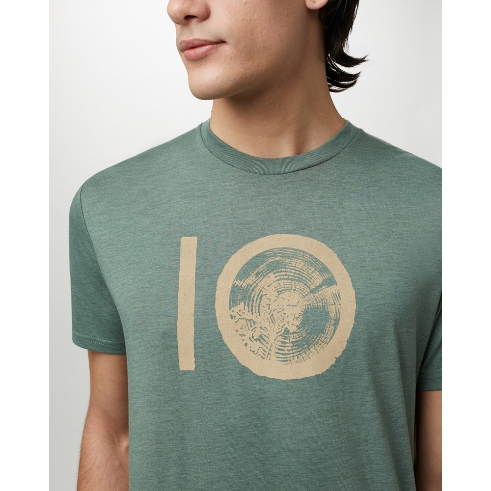 tentree ten Classic T-Shirt Mens Forest Green Heather