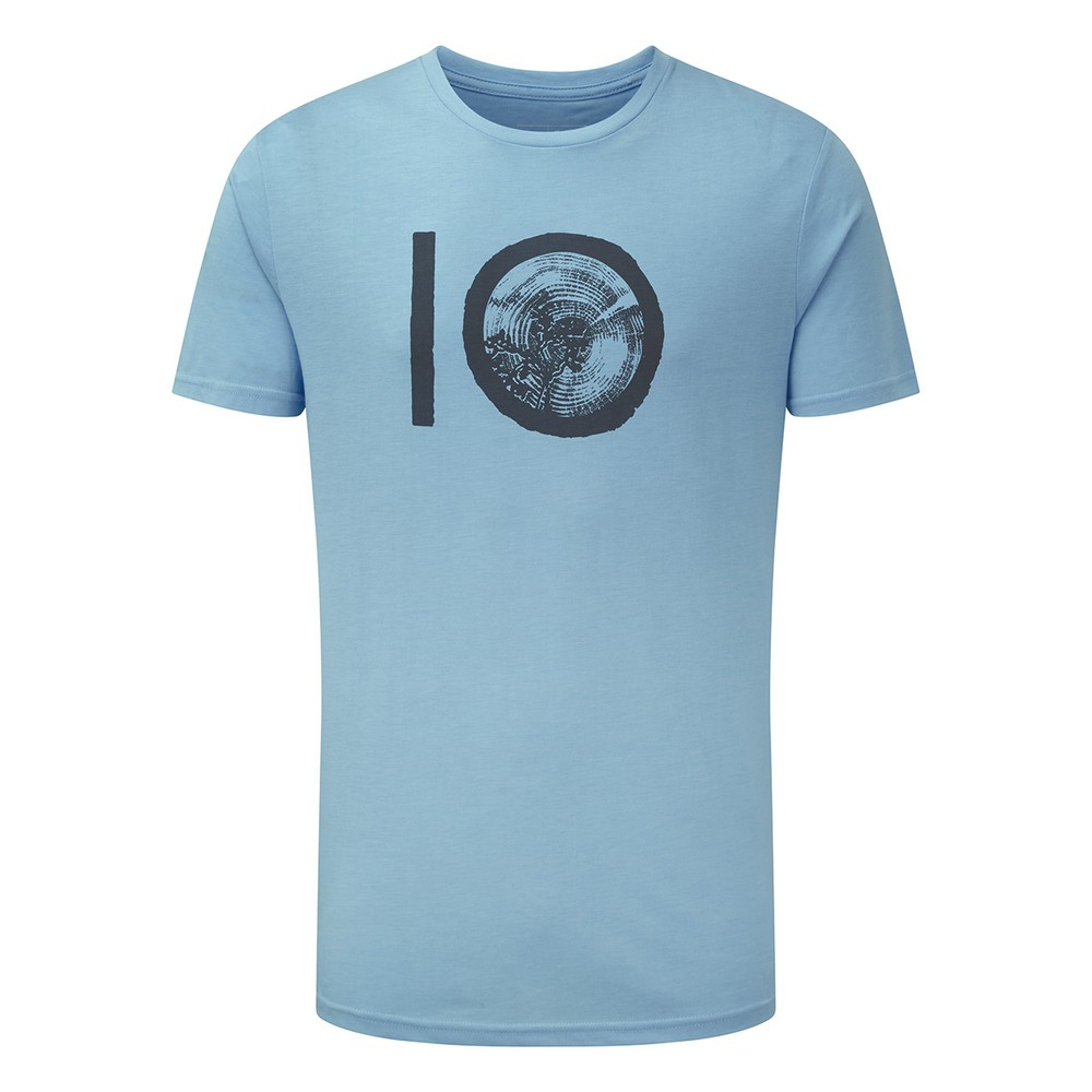 tentree ten Classic T-Shirt Mens Glacier Blue Heather