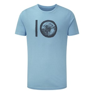 tentree ten Classic T-Shirt Mens in Glacier Blue Heather