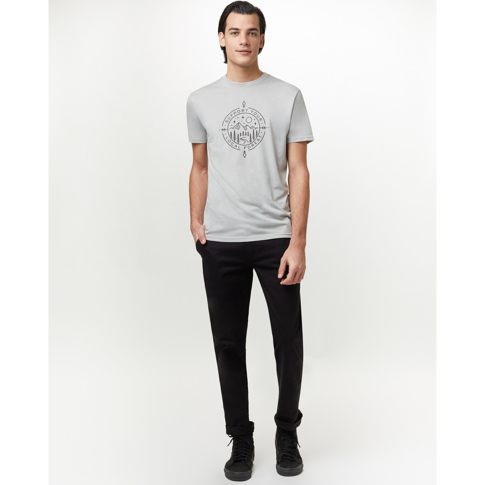 tentree Support Classic T-Shirt Mens Hi Rise Grey Heather