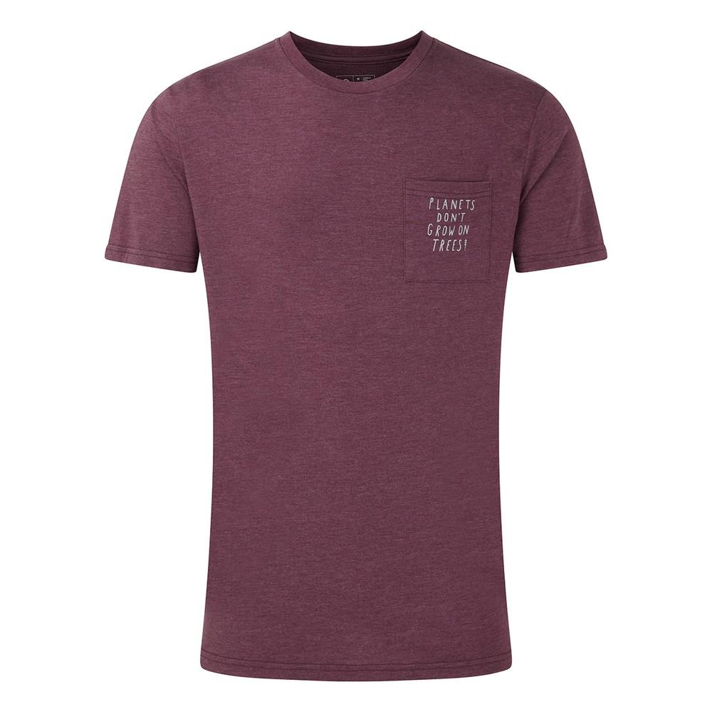 tentree Planets Classic Pocket T-Shirt Mens Merlot Red Heather
