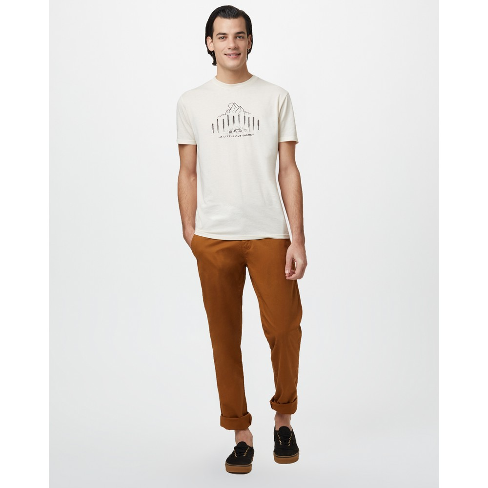tentree Within Reach Classic T-Shirt Mens Elm White Heather