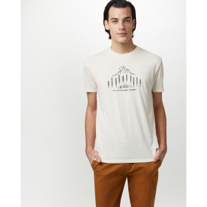 tentree Within Reach Classic T-Shirt Mens in Elm White Heather
