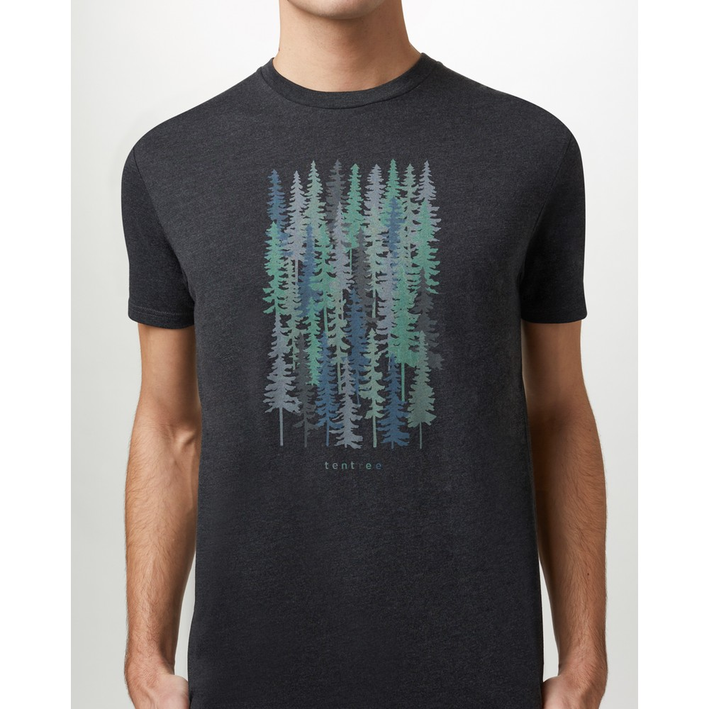 tentree Spruced Up Classic T-Shirt Mens Meteorite Black Heather